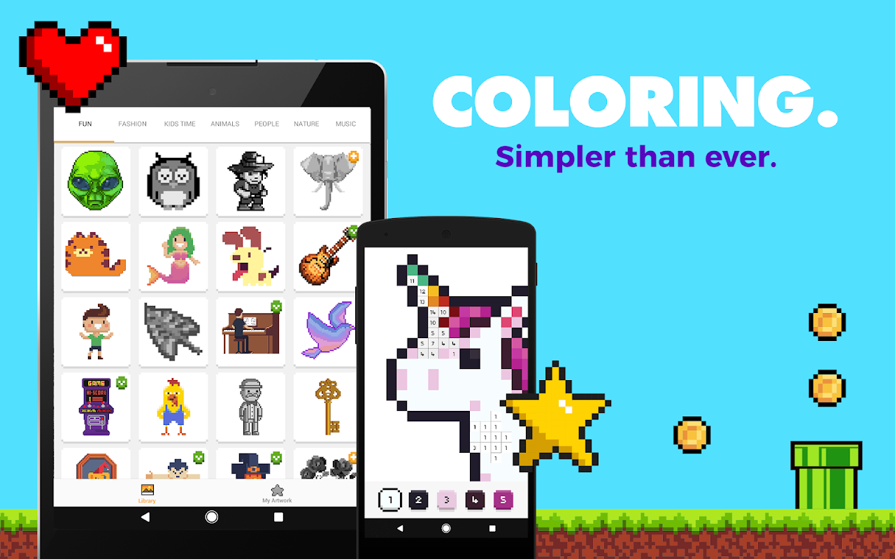 UNICORN: Colour by Numbers Pixel Art Game screenshot 1