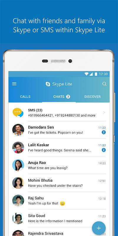 Skype Lite - Free Video Call & Chat screenshot 1