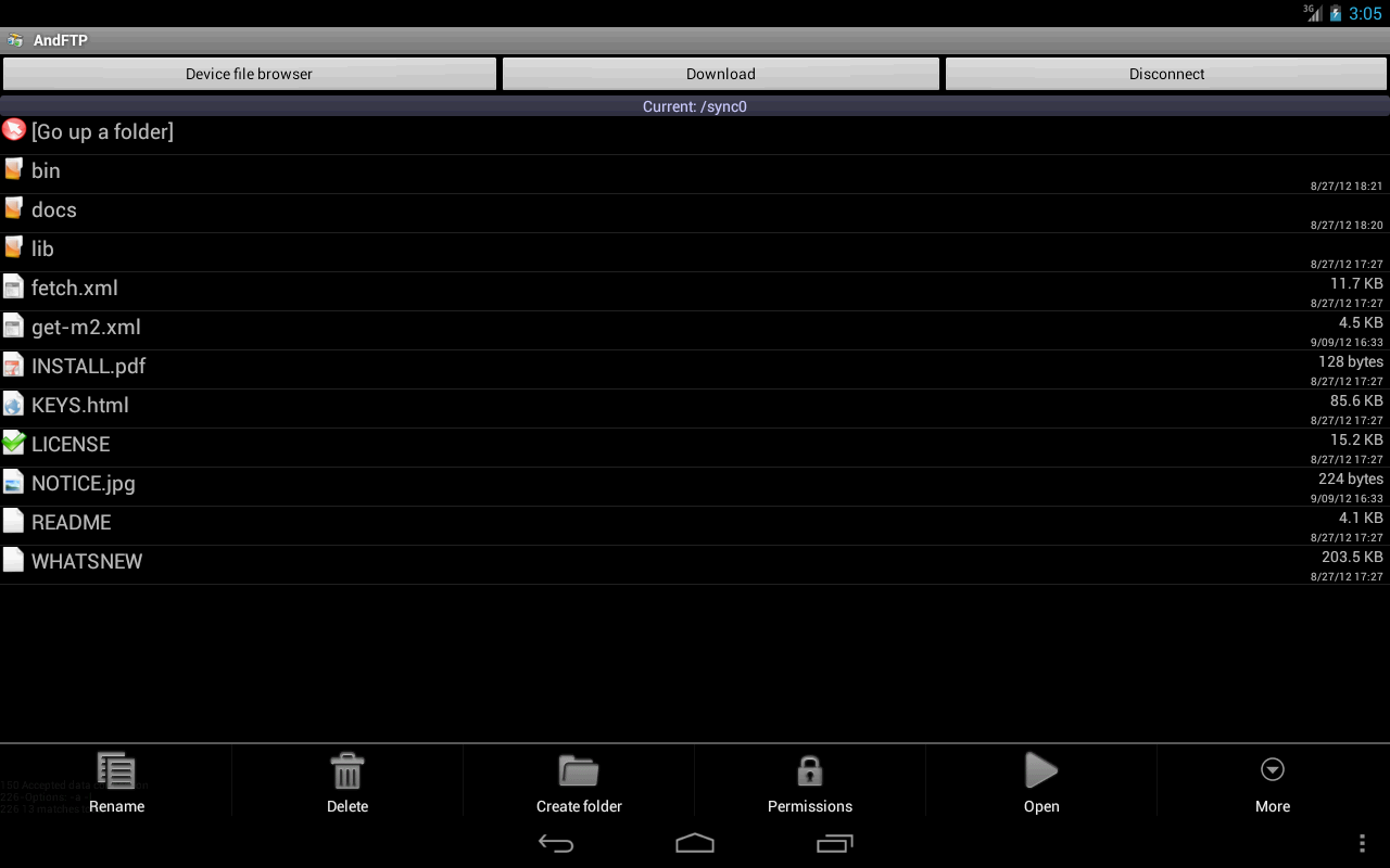 AndFTP screenshot 1