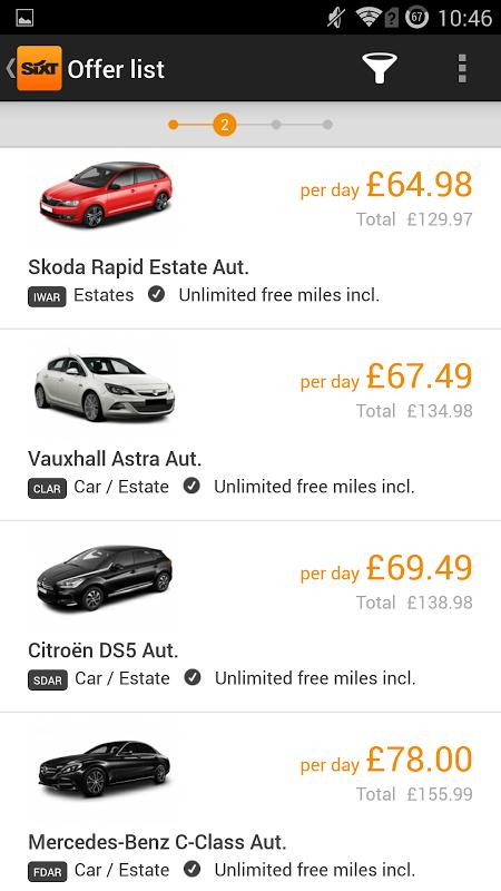 Sixt Rent a Car screenshot 2