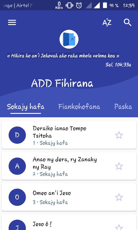 ADD Fihirana screenshot 1