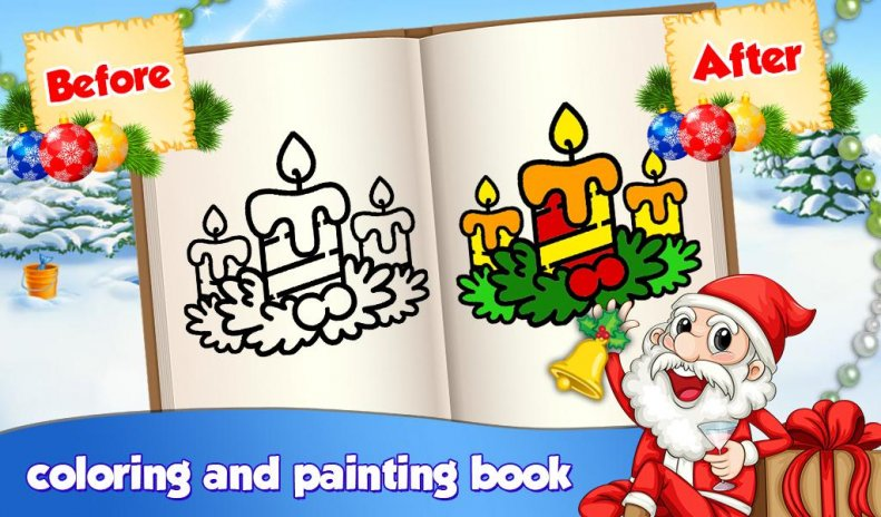 Christmas Kids Coloring Book Screenshot 5