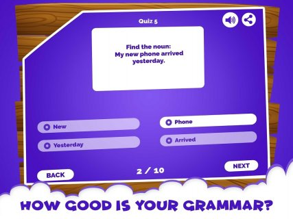 English Grammar Noun Quiz Game screenshot 2