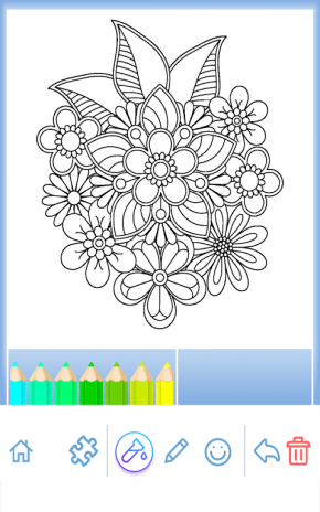 Flower Mandala Coloring Book Screenshot 24