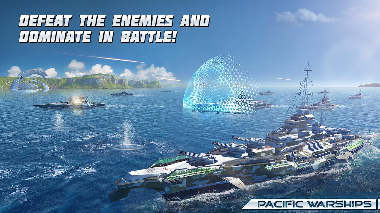 Pacific Warships:  Epic Battle screenshot 2