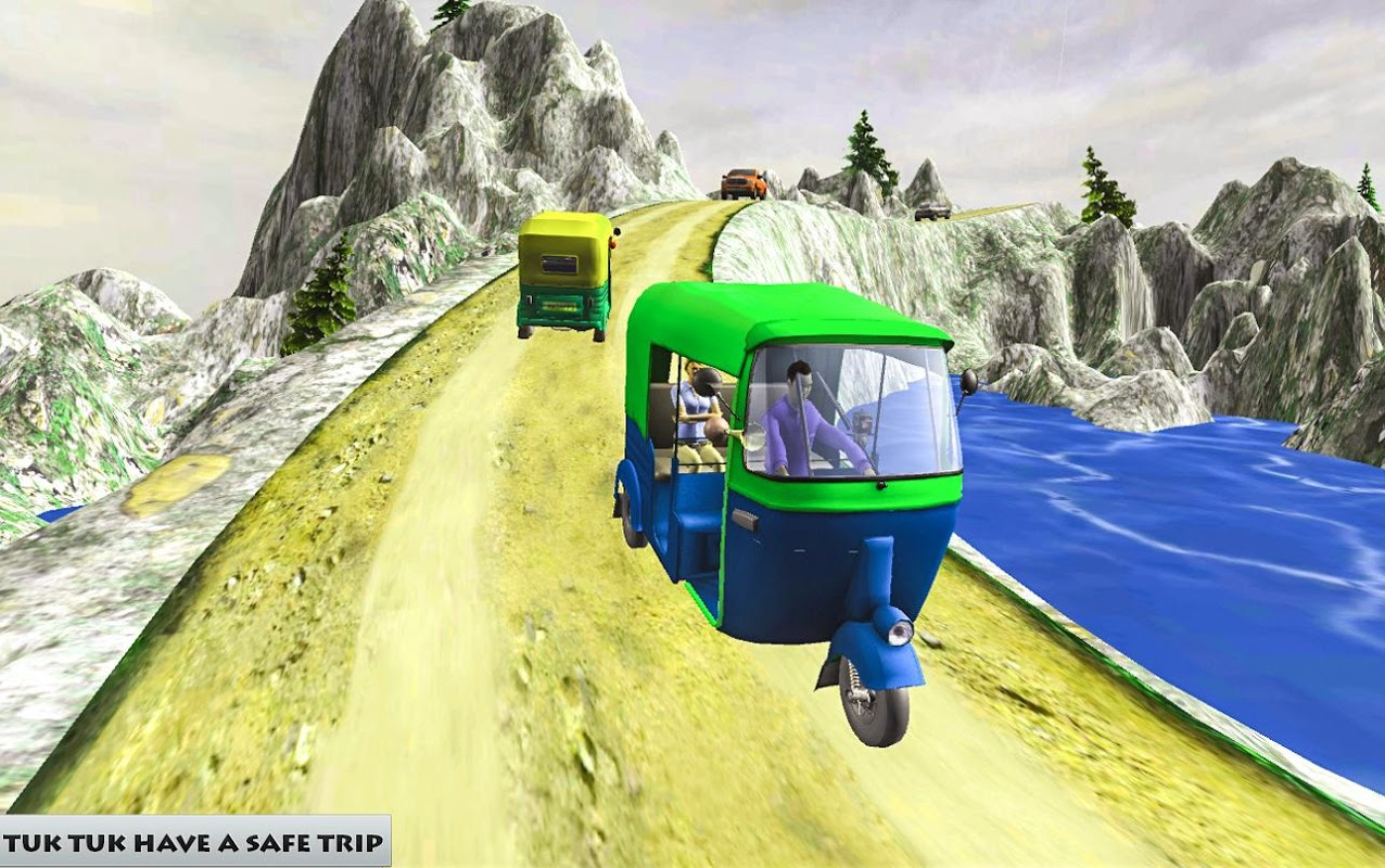 Grand Auto Off road Rickshaw Driving : Free Games screenshot 2
