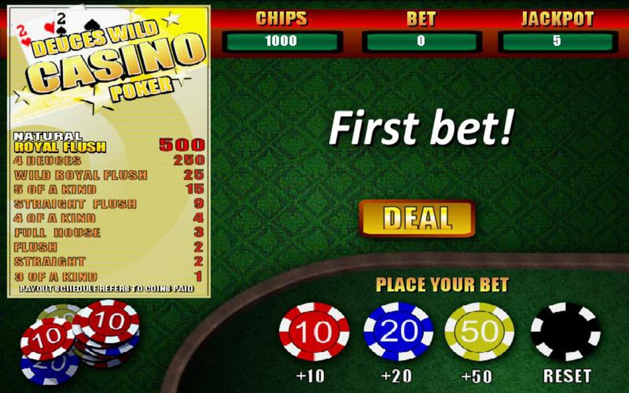 Casino deuces poker recommended wild lucky star casino oklahoma city