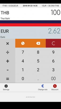 Eur Thai Baht Thb Converter Screenshot 1
