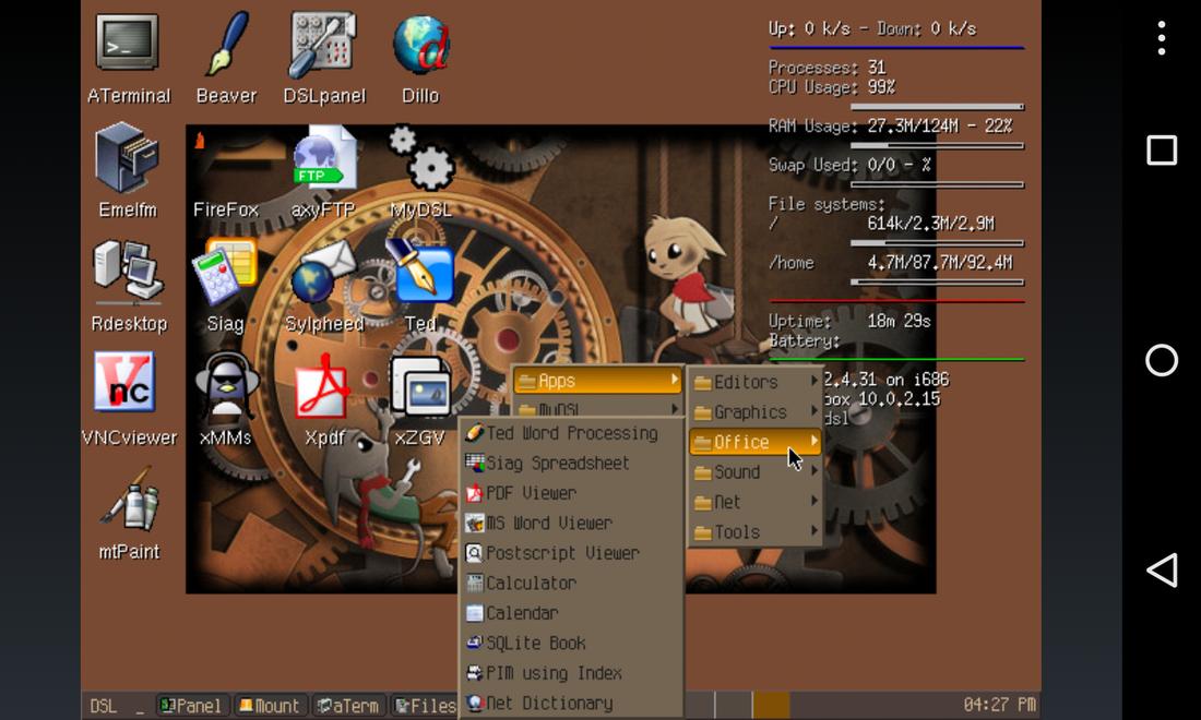 Limbo PC Emulator QEMU ARM x86 no_update_signal 2_9_1_arm