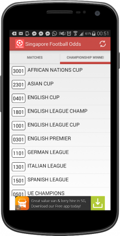 Singapore Football Odds 1 3 6 Download APK for Android - Aptoide