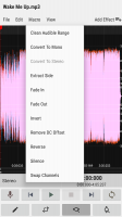 WaveEditor for Android™ Audio Recorder & Editor Screen