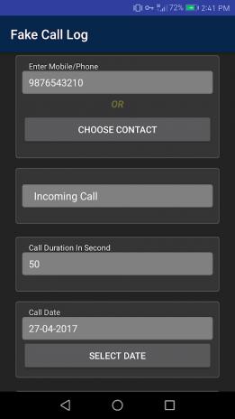 Fake Call Log Generator 1 1 Baixar APK para Android - Aptoide
