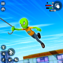 Stickman Rope Hero Gangster - Stickman Ice Hero 3D