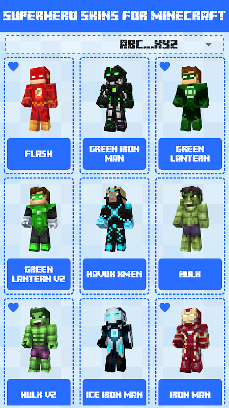 Superhero Skins for Minecraft PE screenshot 2