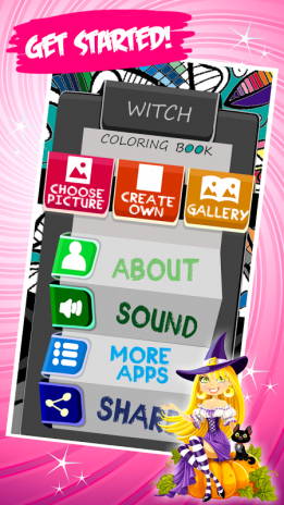 Witch Coloring Book Screenshot 1 2