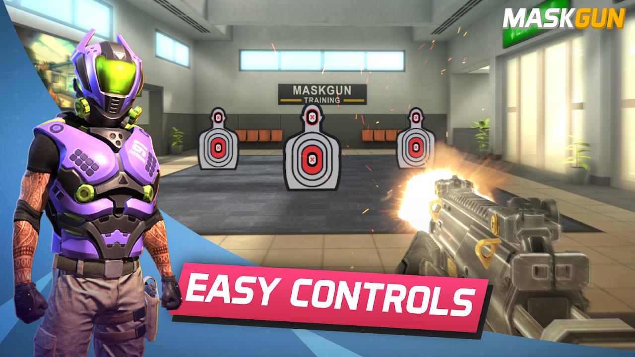 MaskGun Multiplayer FPS - Free Shooting Game screenshot 1