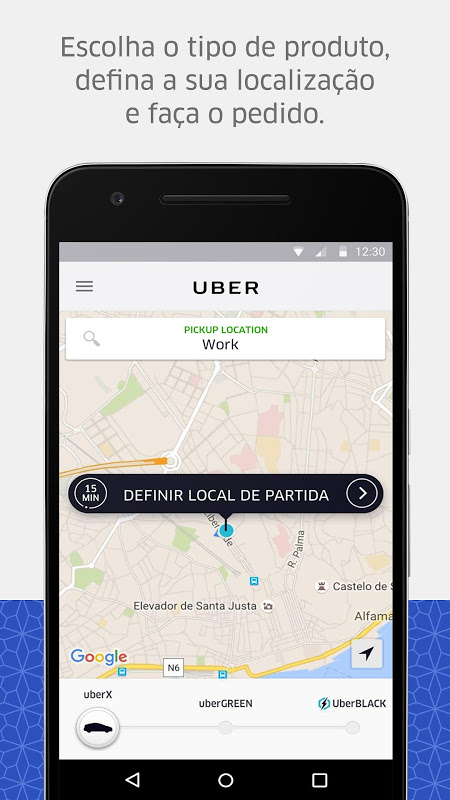 Uber screenshot 1