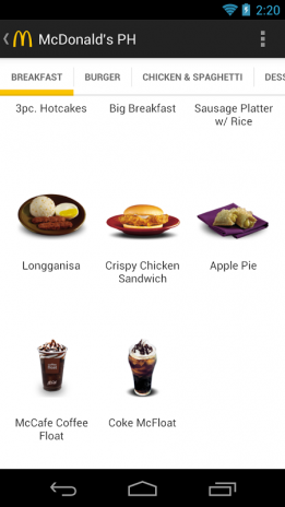Mcdonalds ph philippines 10 download apk for android aptoide mcdonald s ph philippines screenshot 3 forumfinder Images