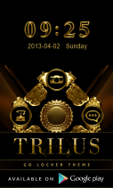 Poweramp TRILUS Skin Screenshot