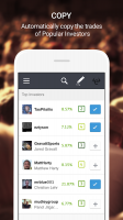 eToro - Social Trading Screen