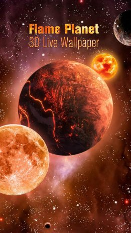 3D Flame doom planet live wallpaper 1 4 Download APK for Android