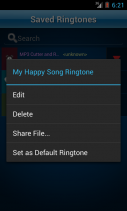 MP3 Cutter and Ringtone Maker Screenshot