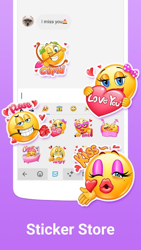 Facemoji Keyboard for Xiaomi - Cute Emoji & Theme screenshot 1