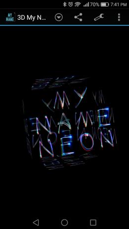 3d My Name Neon Live Wallpaper 6