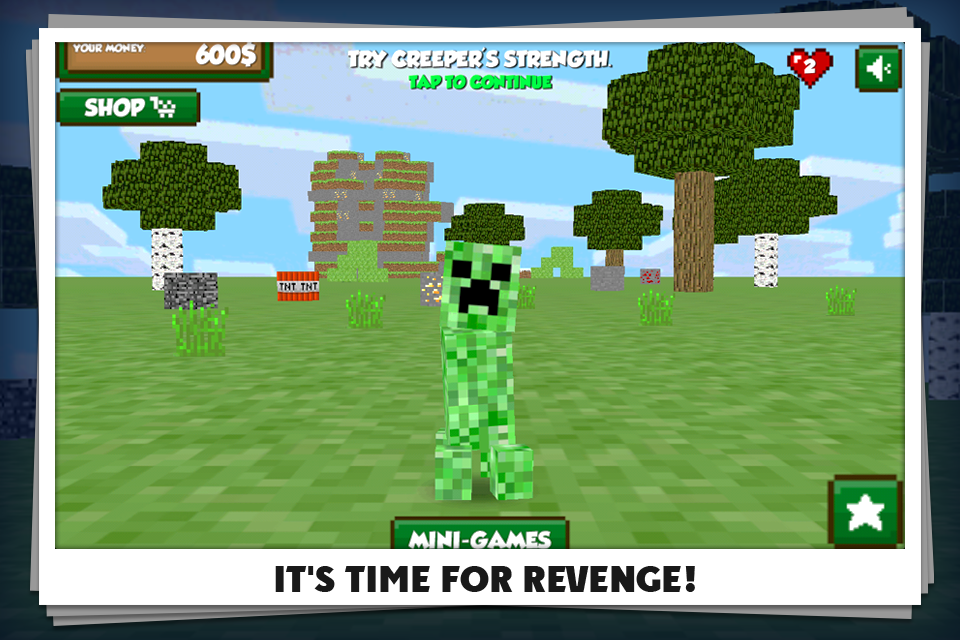 Kick the Minecraft Creeper screenshot 1