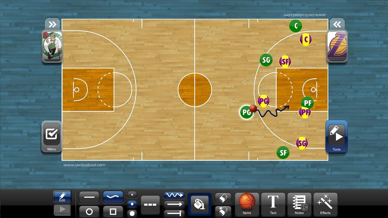 TacticalPad Basketball screenshot 1