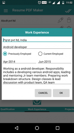Resume PDF Maker / CV Builder 1.8 Download APK for Android - Aptoide