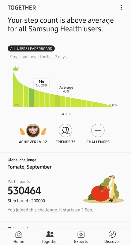 Samsung Health screenshot 2