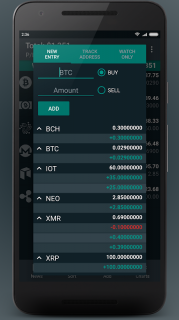 Bitsnapp – Track your Bitcoin and Crypto Portfolio (Unreleased) screenshot 4