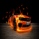 Car Race in Fire
