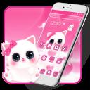 Cute Pink Kitty Theme