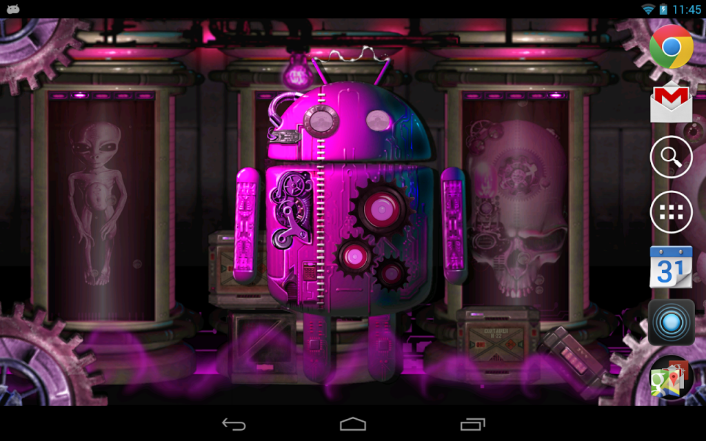 steampunk droid live wallpaper apk