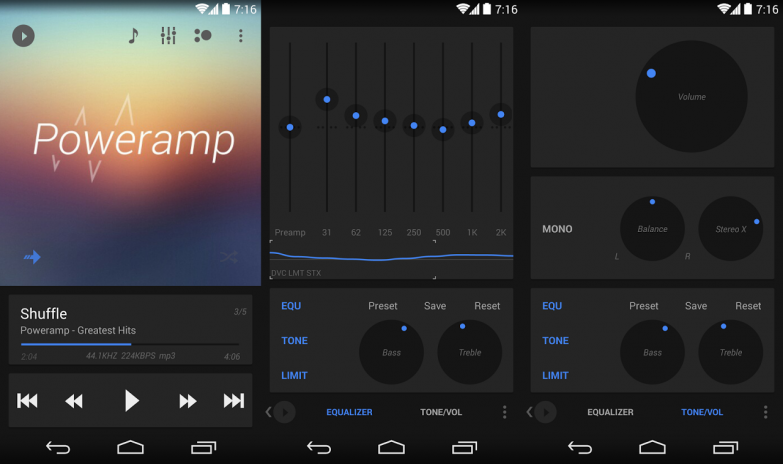 Poweramp skin 5in1 Now Dark 1 0 3 Download APK for Android
