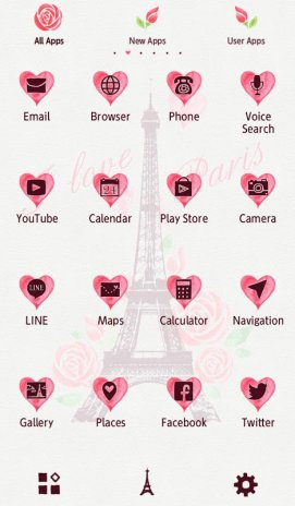 I Love Paris Wallpaper Screenshot 3