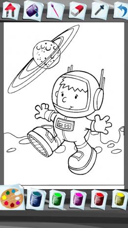 Astronot Boyama Kitabı 14 Android Aptoide Için Apk Indir