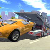Car Cargo Transport Driver 3D Icon
