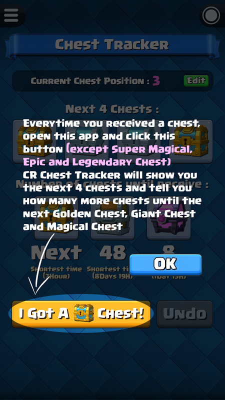 Chest Tracker for Clash Royale screenshot 2