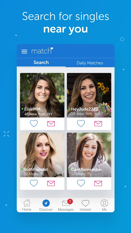 Match singles search