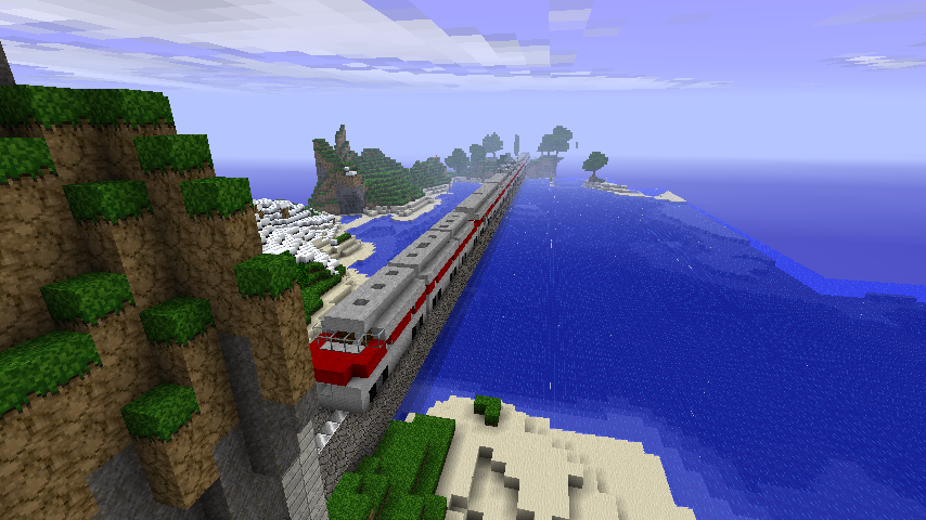 how to build rails in minecraft