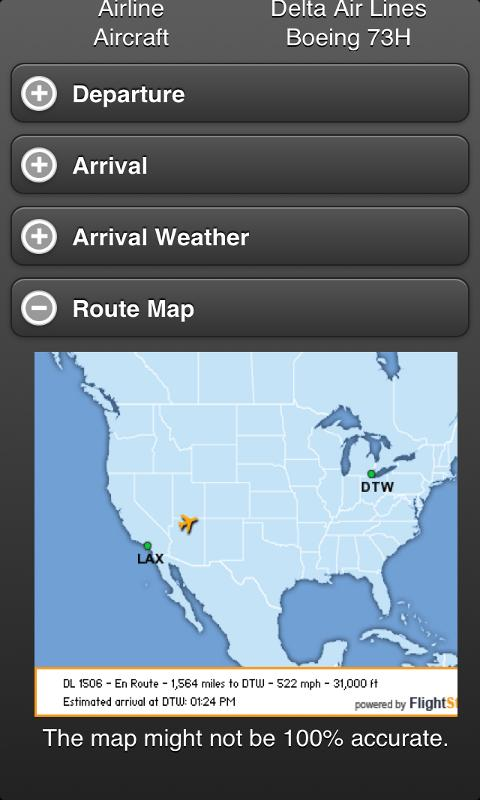 Flight Tracker screenshot 2