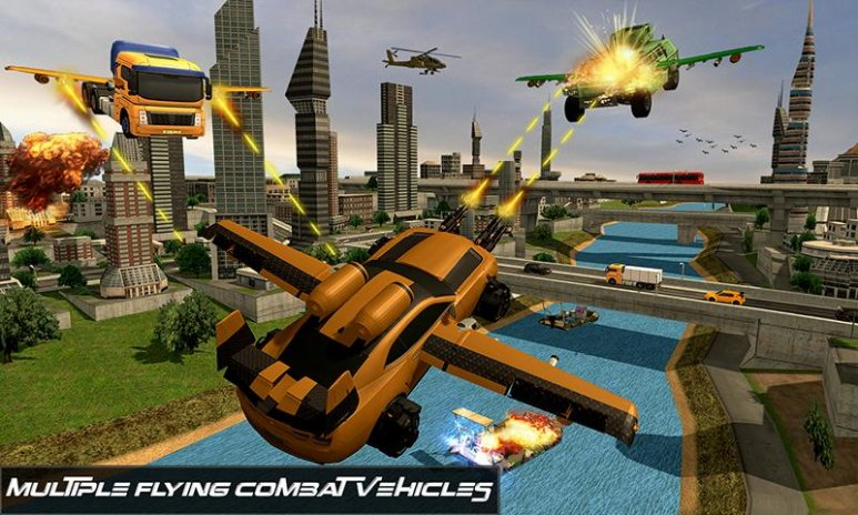Futuristic Flying Car Battle 1 1 Download Apk For Android Aptoide