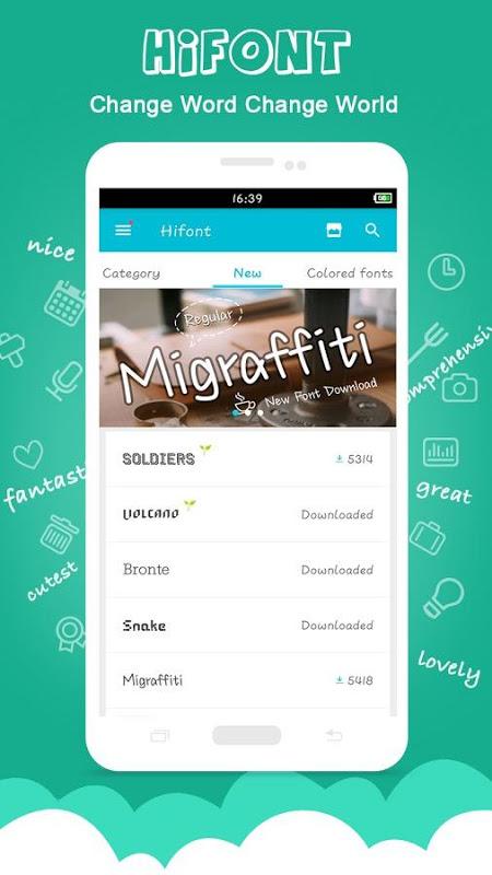 HiFont - Cool Font Text Free + Galaxy FlipFont screenshot 1