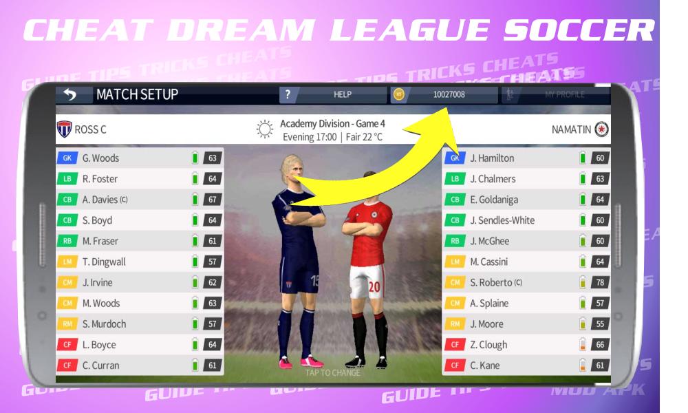 Cheats for Dream League Soccer 2017 screenshot 6