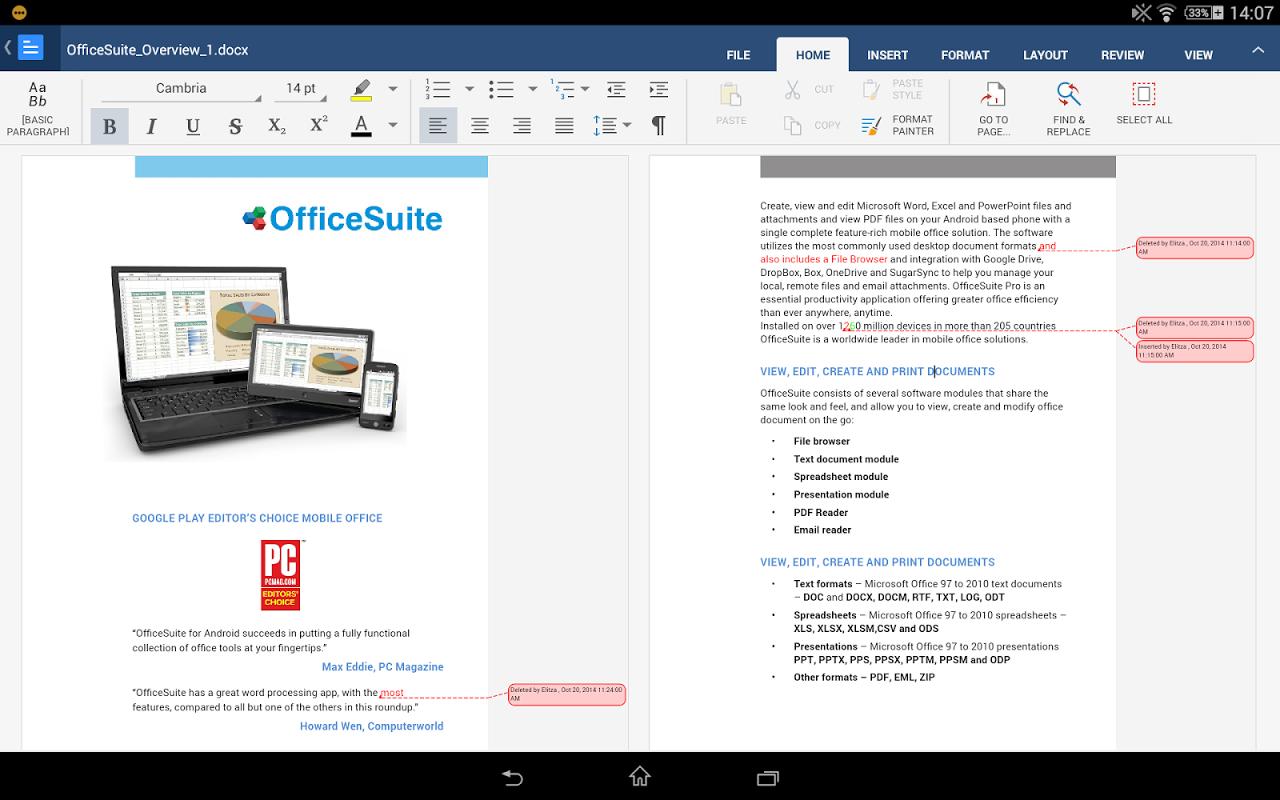 & hd officesuite pdf viewer + 7