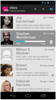 T-Mobile Visual Voicemail screenshot 1