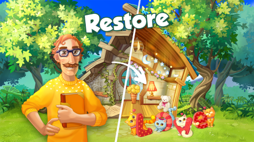 Bloomberry — match-3 design story makeover of home screenshot 17